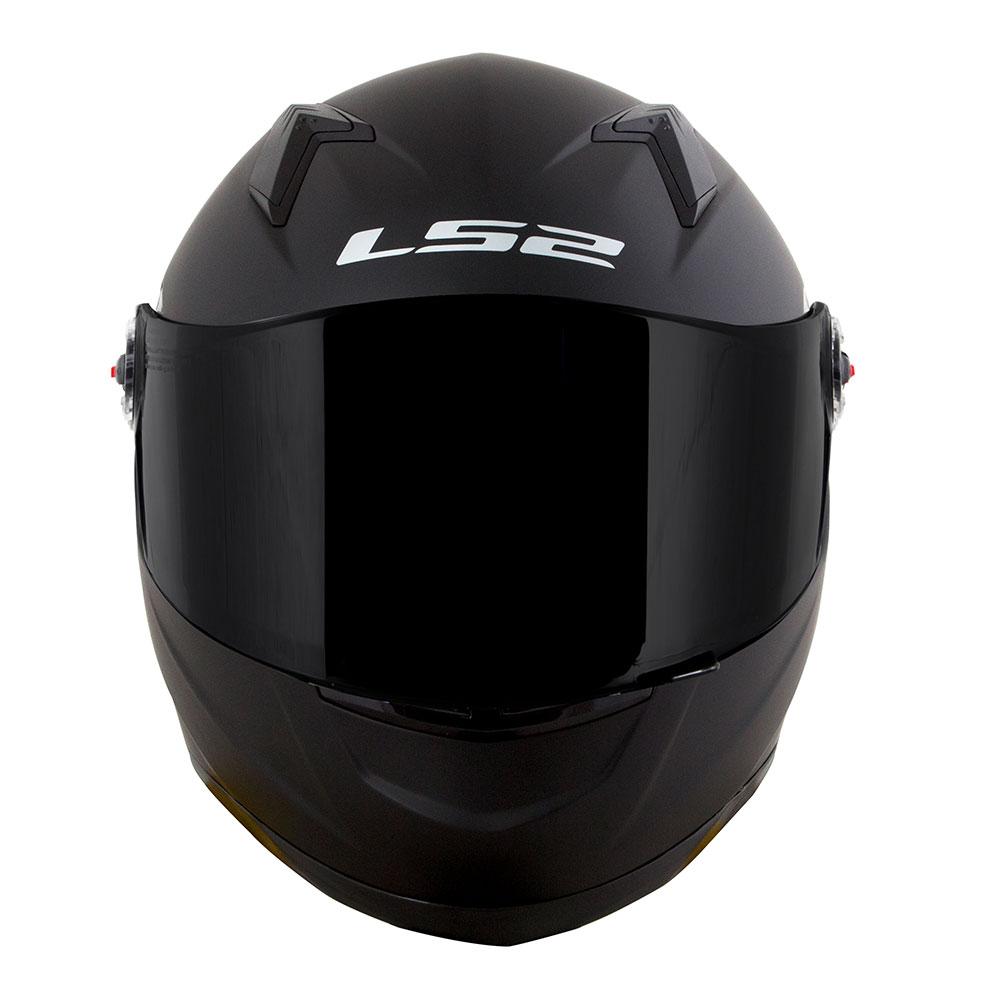 CAPACETE LS2 CLASSIC FF358 MONOCOLOR BLACK - PRETO FOSCO