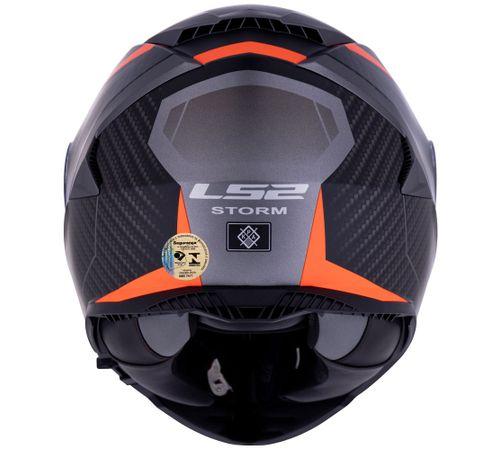 CAPACETE LS2 FF800 STORM RACER TITANIUM LARANJA FOSCO