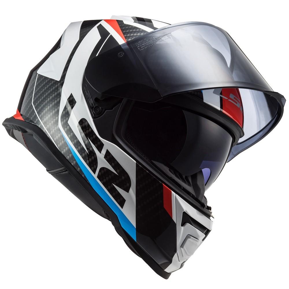 CAPACETE LS2 STORM FF800 RACER - AZUL VERMELHO BRANCO