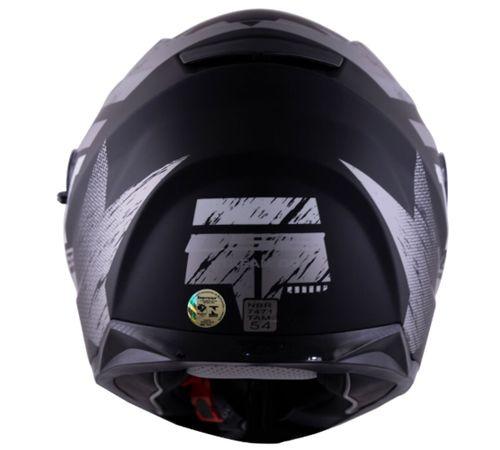 CAPACETE LS2 STREAM FF320 HUNTER -  PRETO / TITANIUM FOSCO