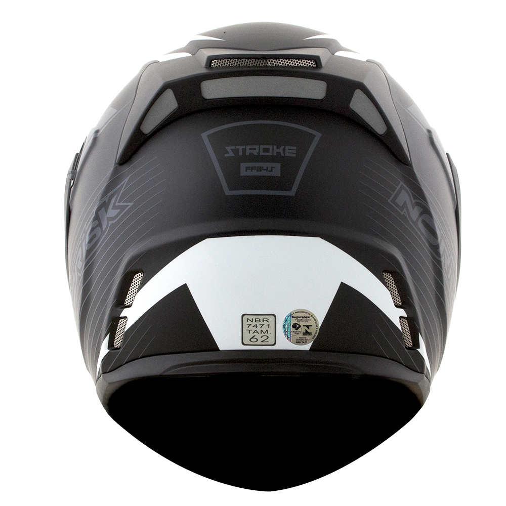CAPACETE NORISK ROUTE FF345  STROKE BLACK GREY WHITE