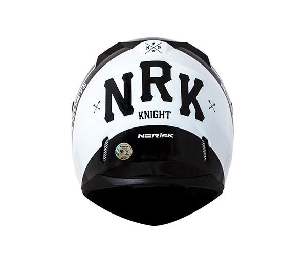 CAPACETE NORISK FF391 KNIGHT PRETO BRANCO