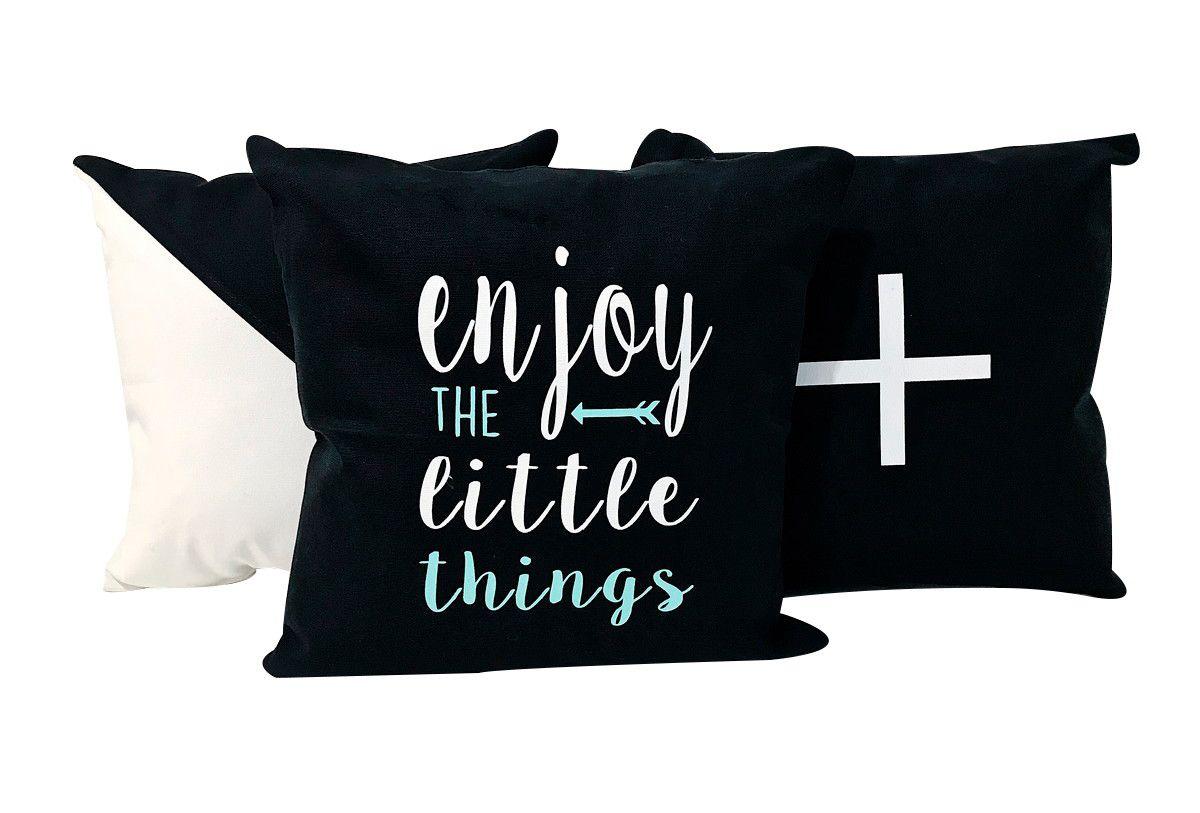 Combo com 3 Almofadas Decorativas Enjoy the little things