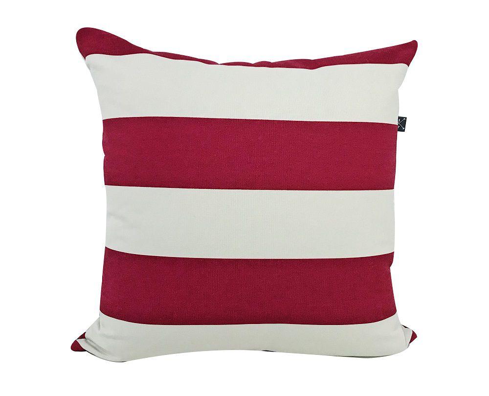 Almofada Decorativa Listrada Vermelha