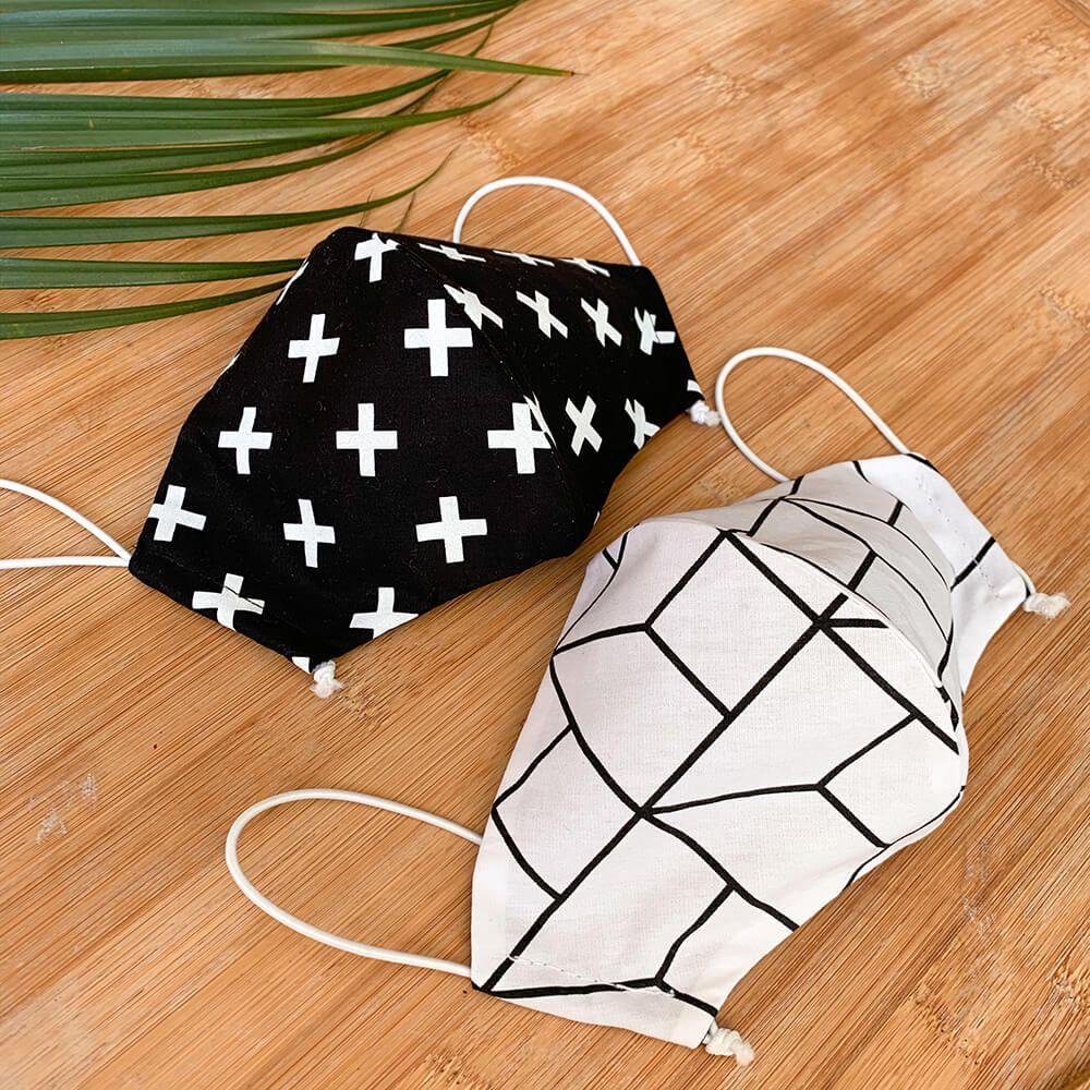 Kit 2 Máscaras de Proteção em Tecido