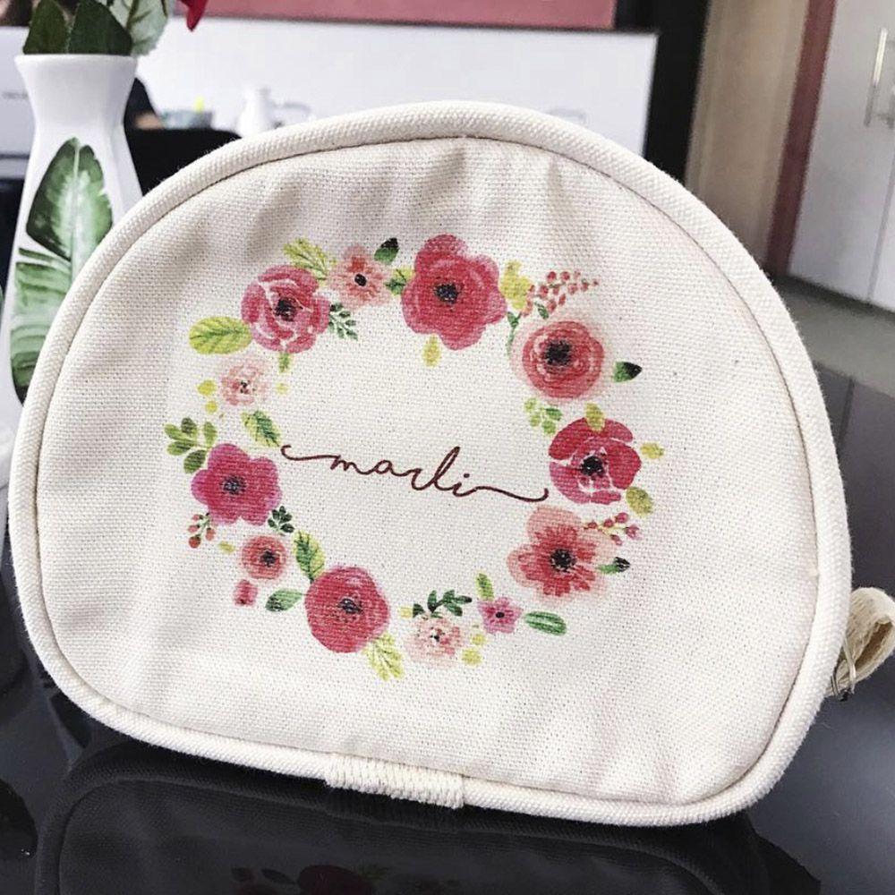 Necessaire Personalizada Floral Madrinha do Ano