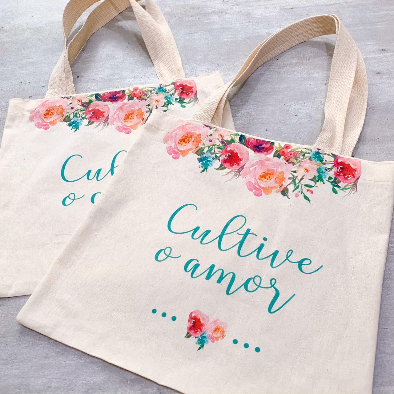 Sacola Ecobag Cultive o Amor...