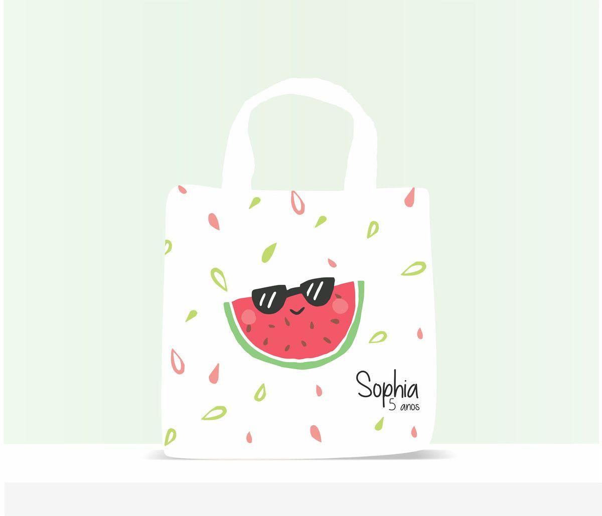 Sacola Ecobag Personalizada Infantil Melancia