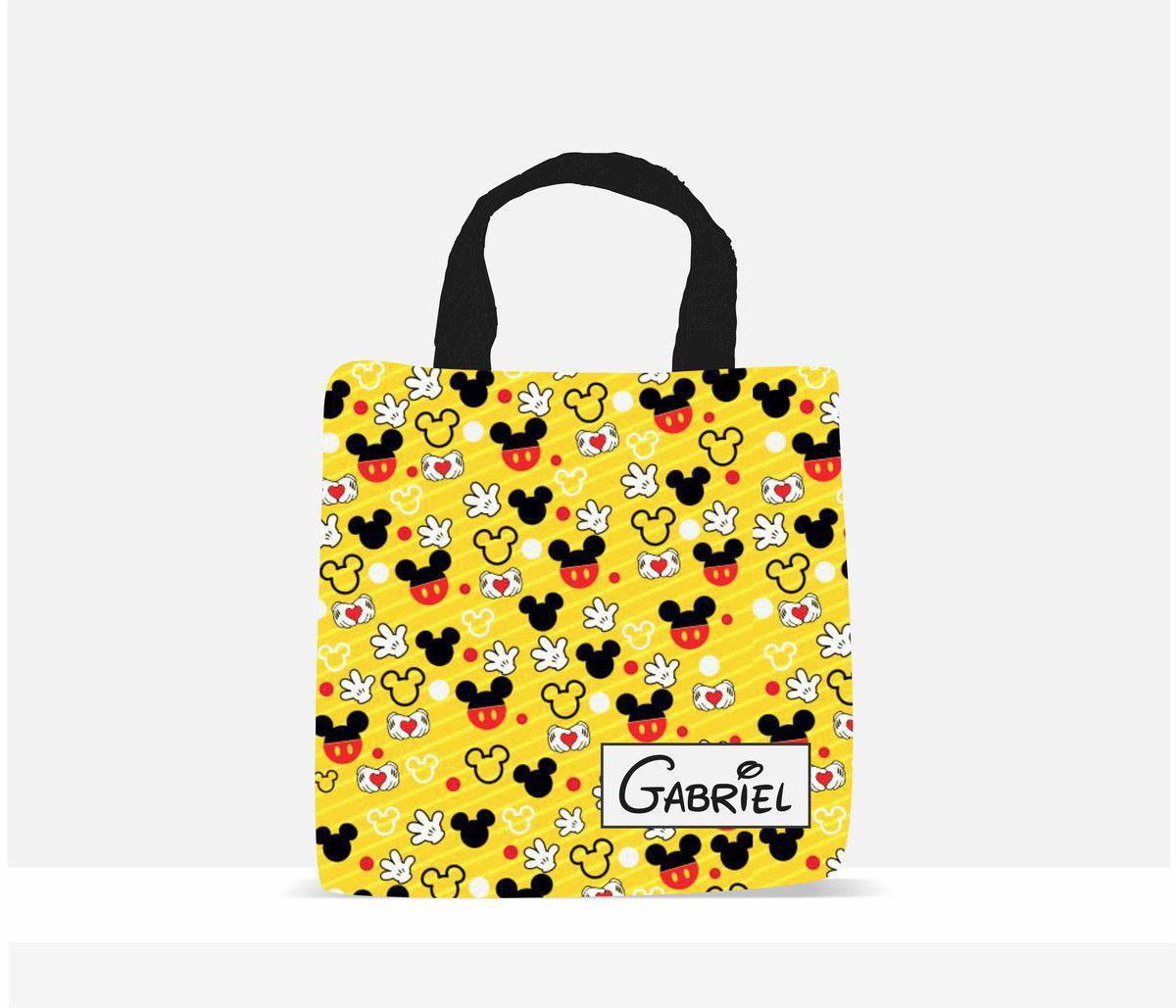 Sacola Ecobag Personalizada Infantil Mickey Amarelo