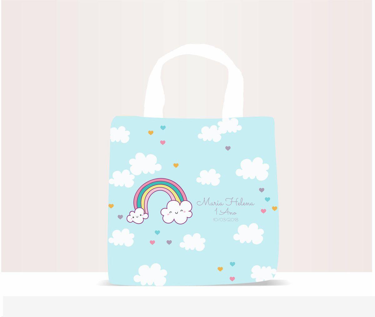Sacola Ecobag Personalizada Infantil Nuvem
