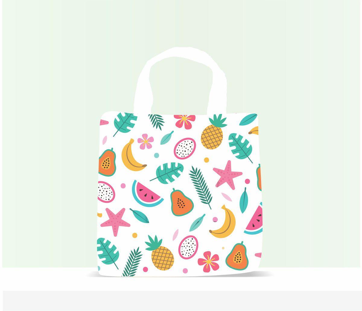 Sacola Ecobag Personalizada Infantil Tropical