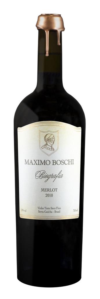 Vinho Tinto Merlot Biografia Maximo Boschi 2010