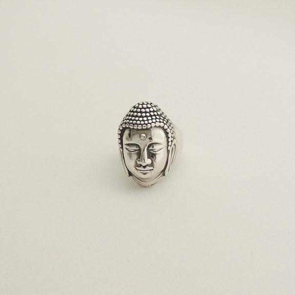 Anel de Prata Cabeça Buda