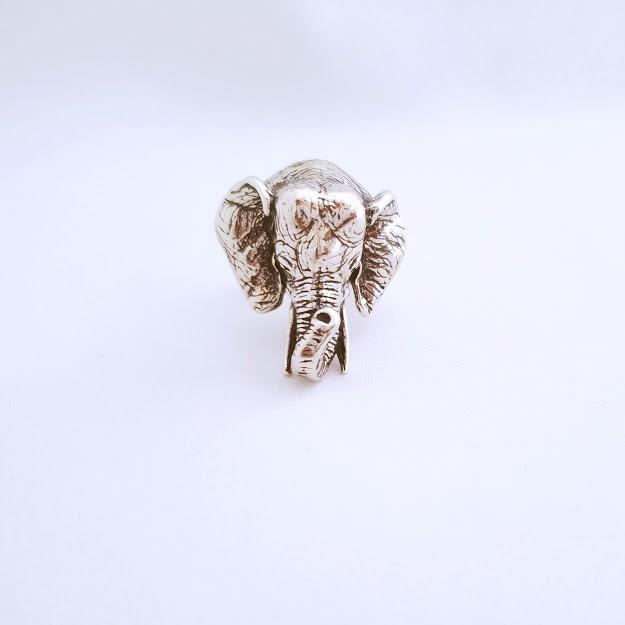 Anel de Prata Cabeça de Elefante