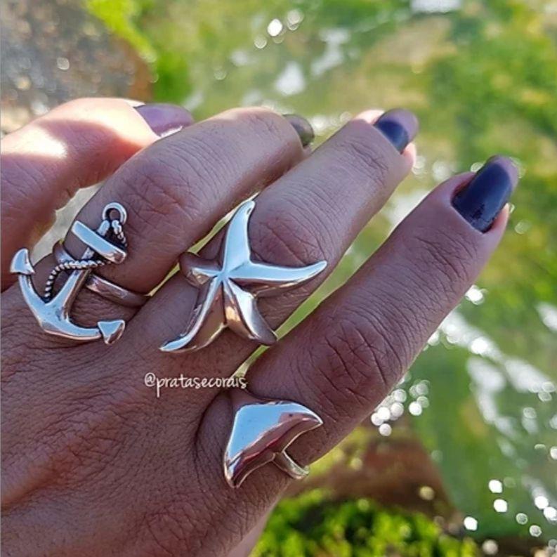 Anel de Prata Cauda de Sereia