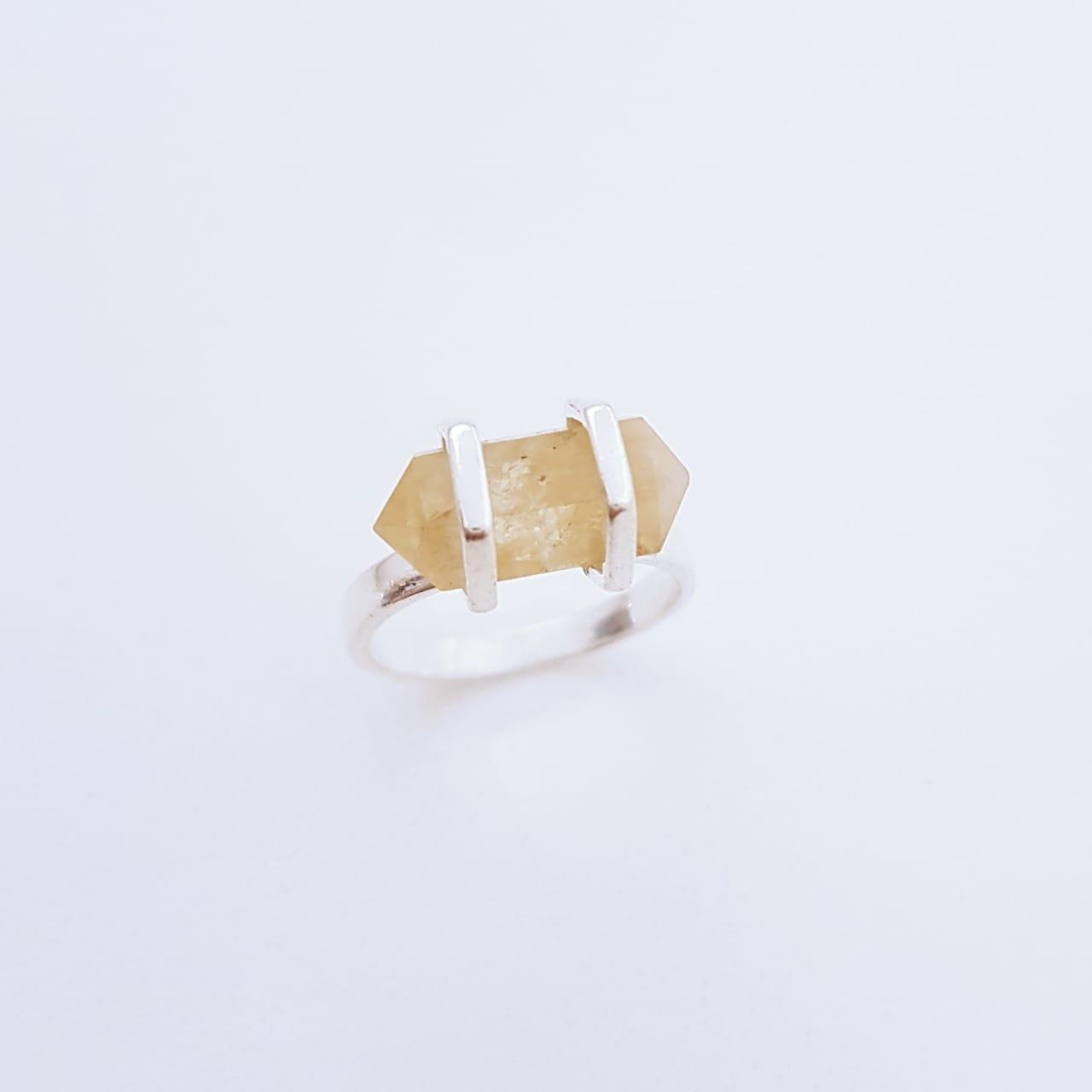 Anel de Prata Cristalzinho de Pedras