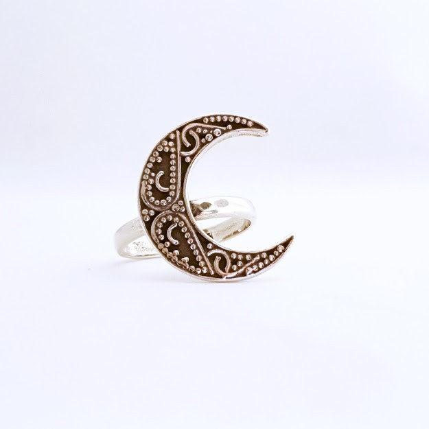 Anel de Prata Gypsy Meia Lua
