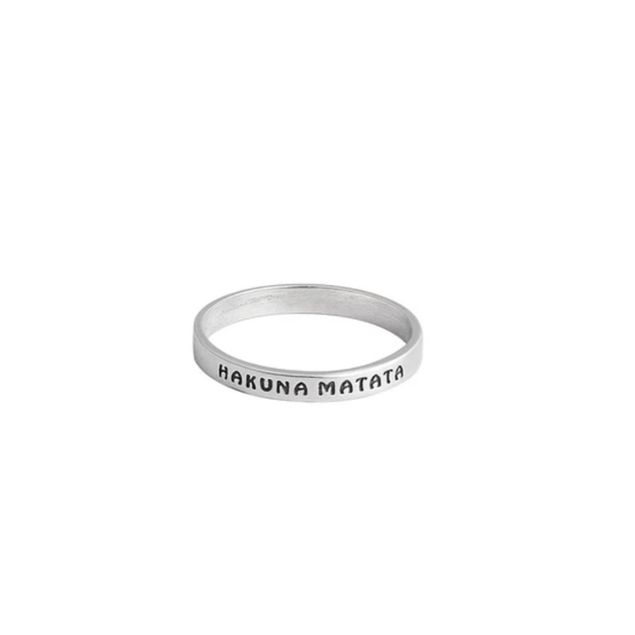 Anel de Prata Hakuna Matata
