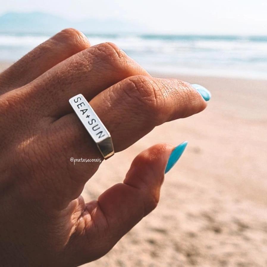 Anel de Prata Sea + Sun