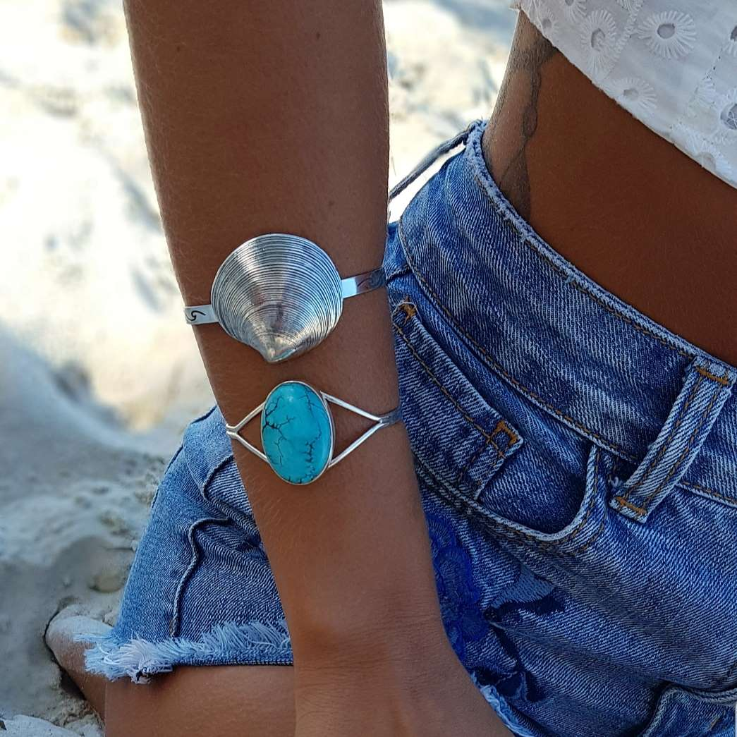 Bracelete de Prata 925 Concha