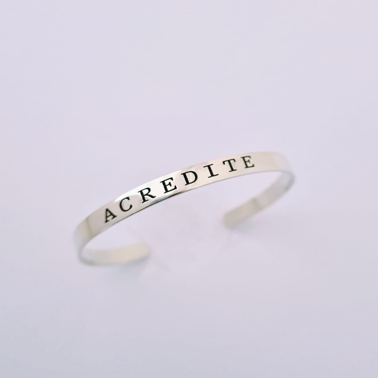 Bracelete de Prata Acredite