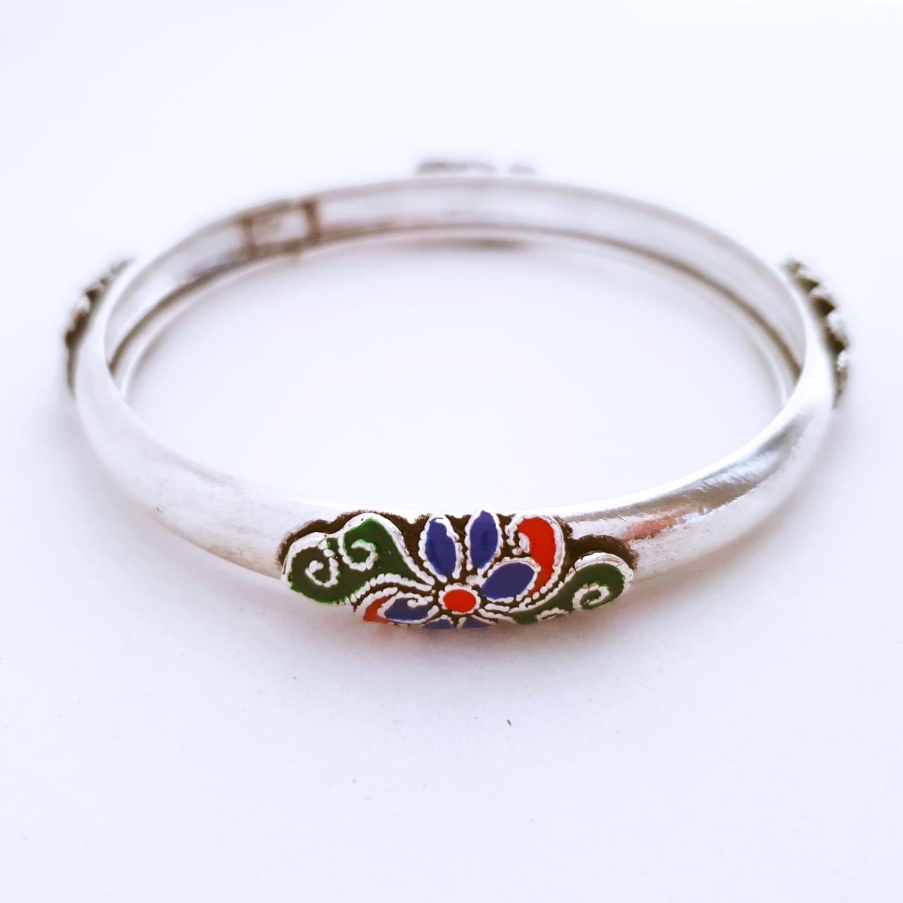 Bracelete de Prata Cloisonné