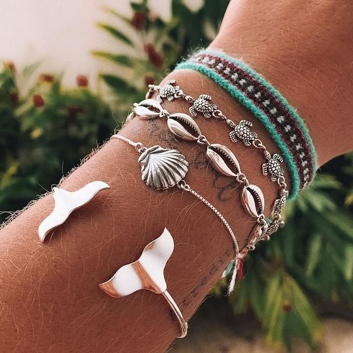 Bracelete de Prata com Caudas