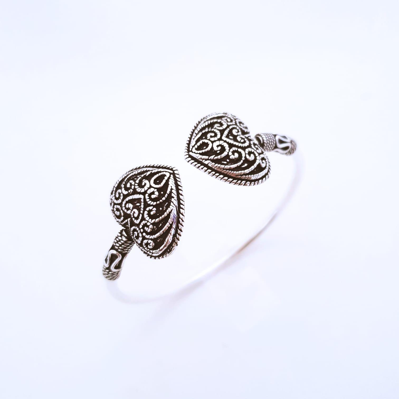 Bracelete de Prata Coração Bali