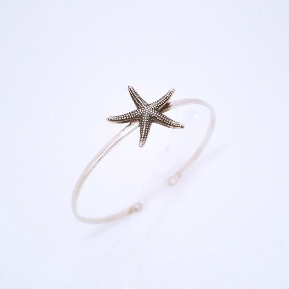 Bracelete de Prata Estrela do Mar