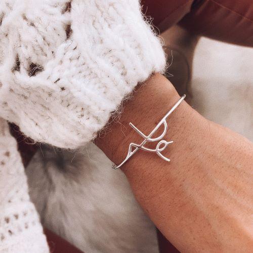 Bracelete de Prata Fé
