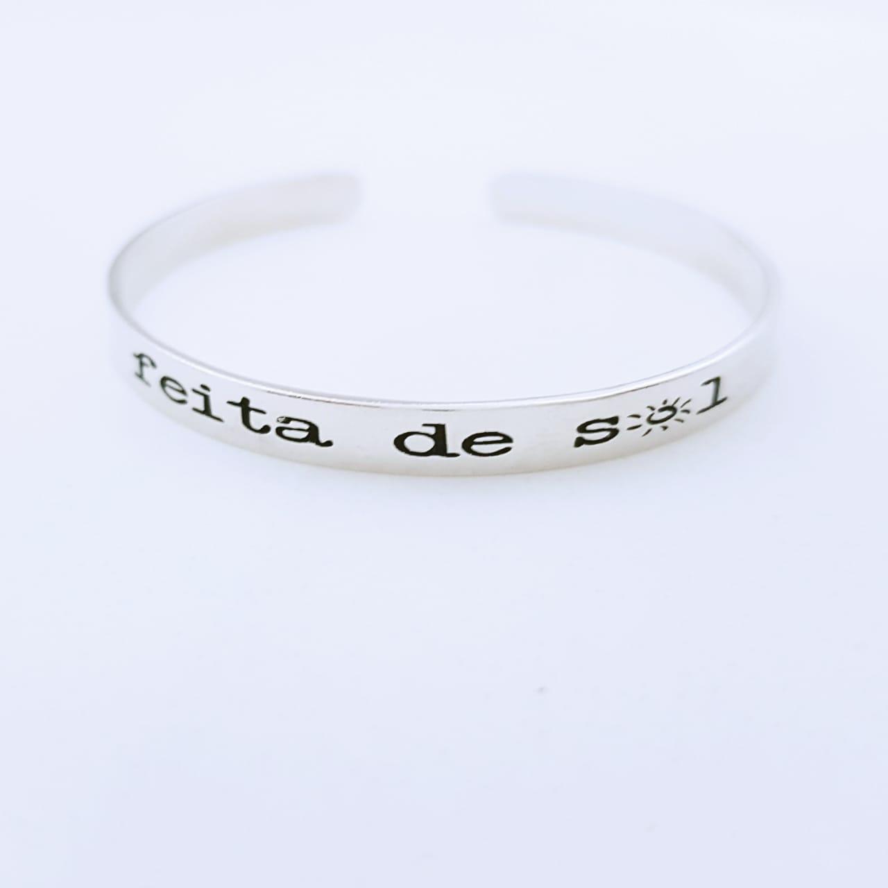 Bracelete de Prata Feita de Sol
