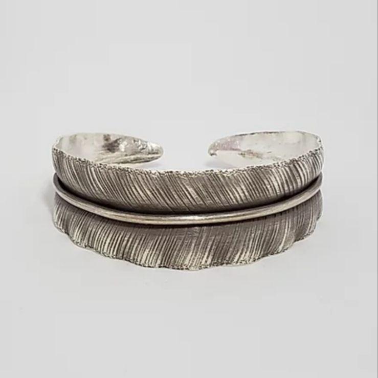 Bracelete de Prata 925 Boho Folha