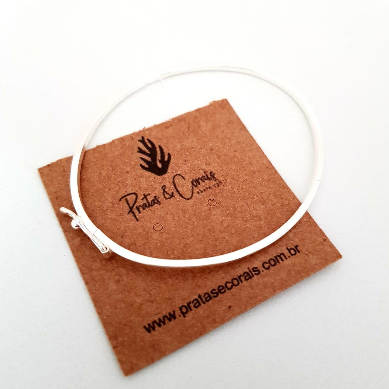 Bracelete de Prata Liso Fino