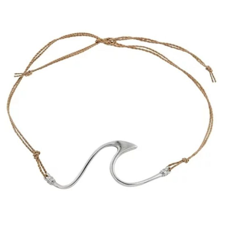 Bracelete ou Tornozeleira de Prata Onda