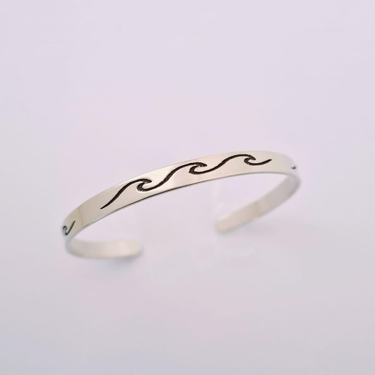 Bracelete de Prata Ondinhas