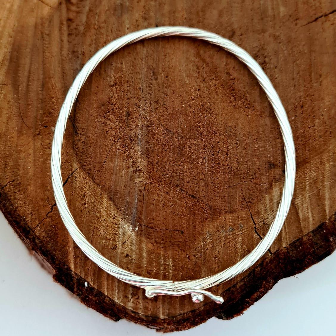 Bracelete de Prata Trançado