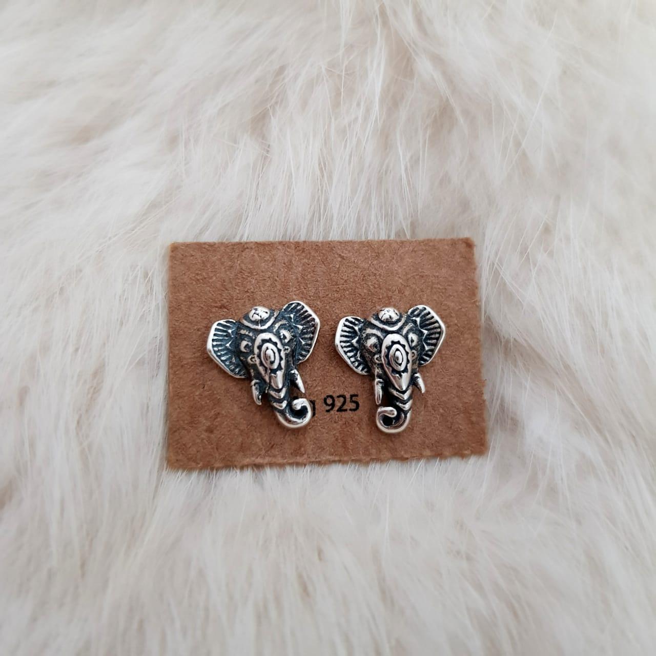 Brinco de Prata Elefante Indiano