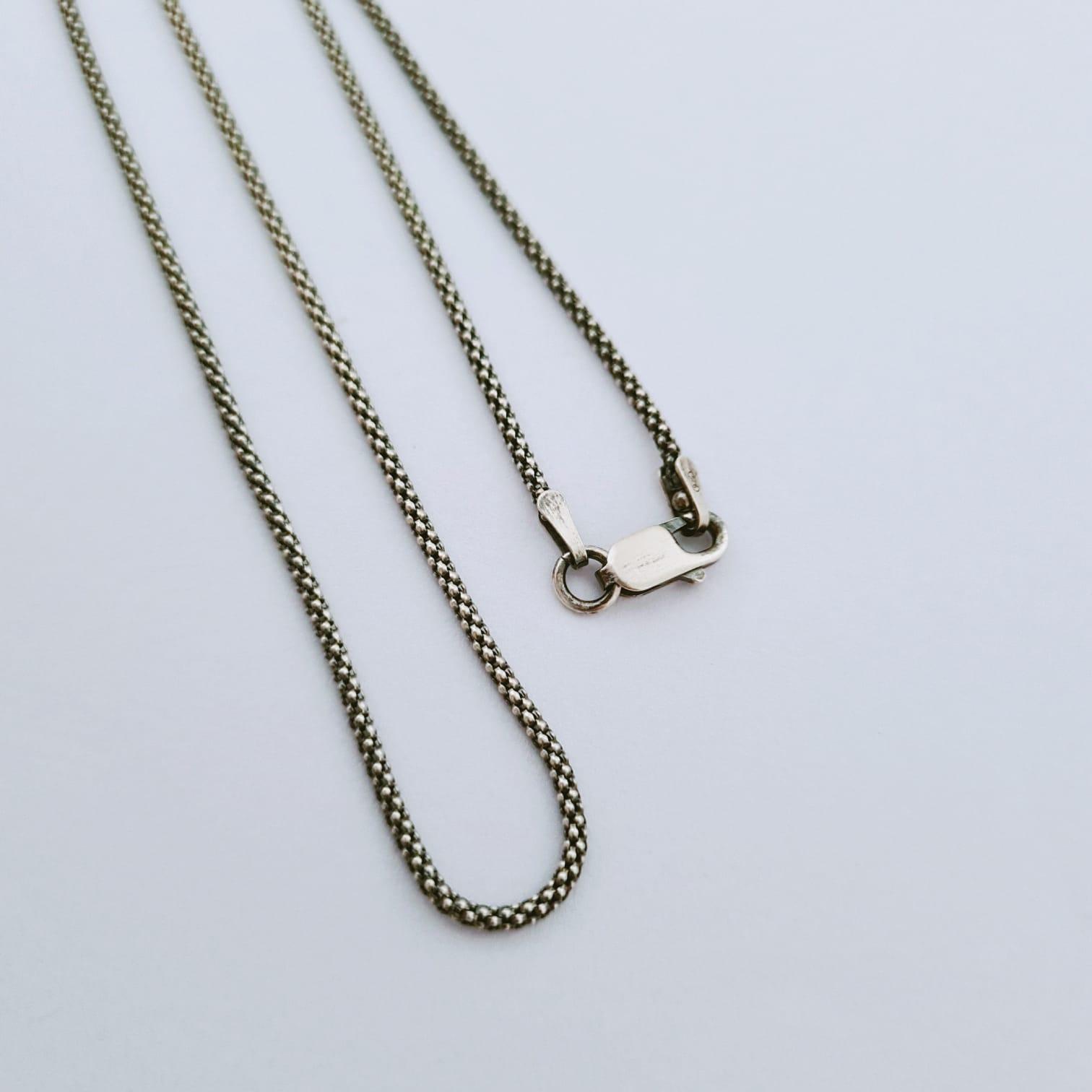 Corrente de Prata Pipoca Fina - 60 cm