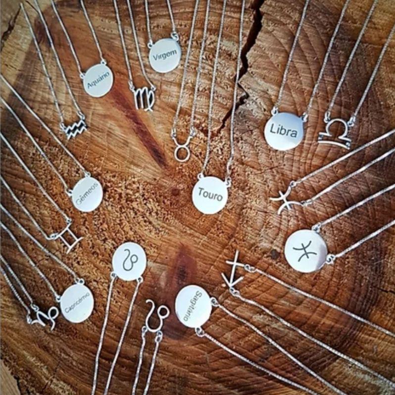 Escapulários de Prata Signos - 60 cm