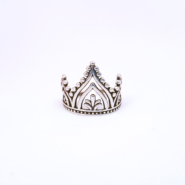 Falange de Prata Coroa Rendada