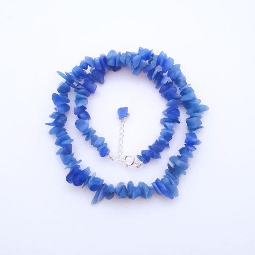 Gargantilha Cascalho Quartzo Azul