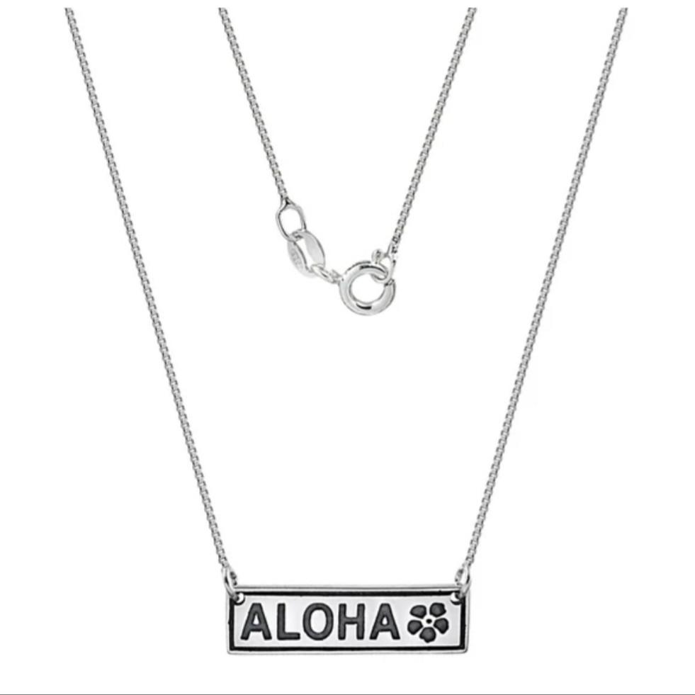 Gargantilha de Prata Aloha