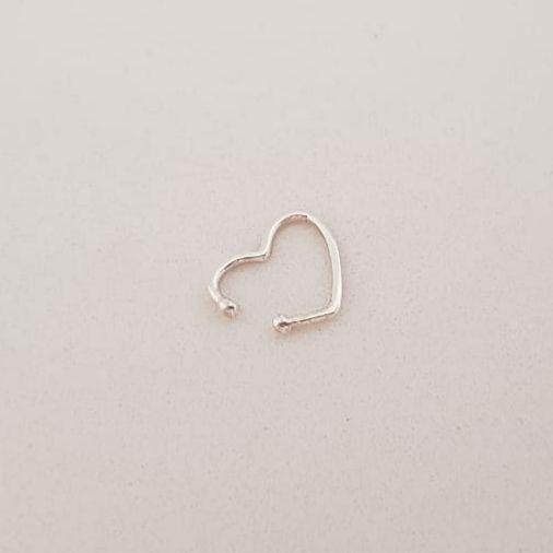 Piercing de Prata Coração