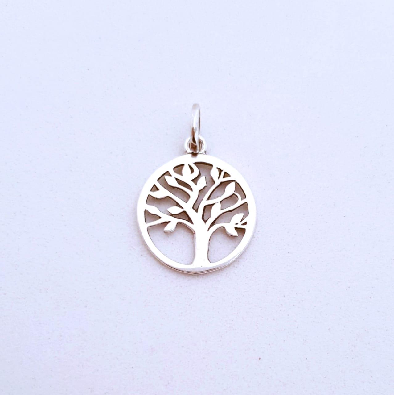 Pingente de Prata Árvore de Vida no Aro