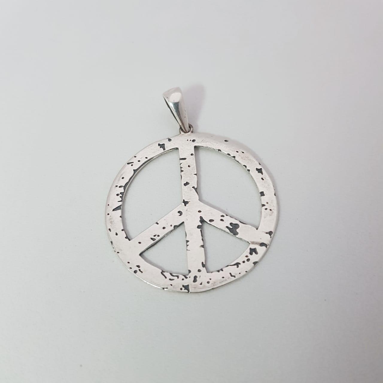 Pingente de Prata Boho Símbolo da Paz