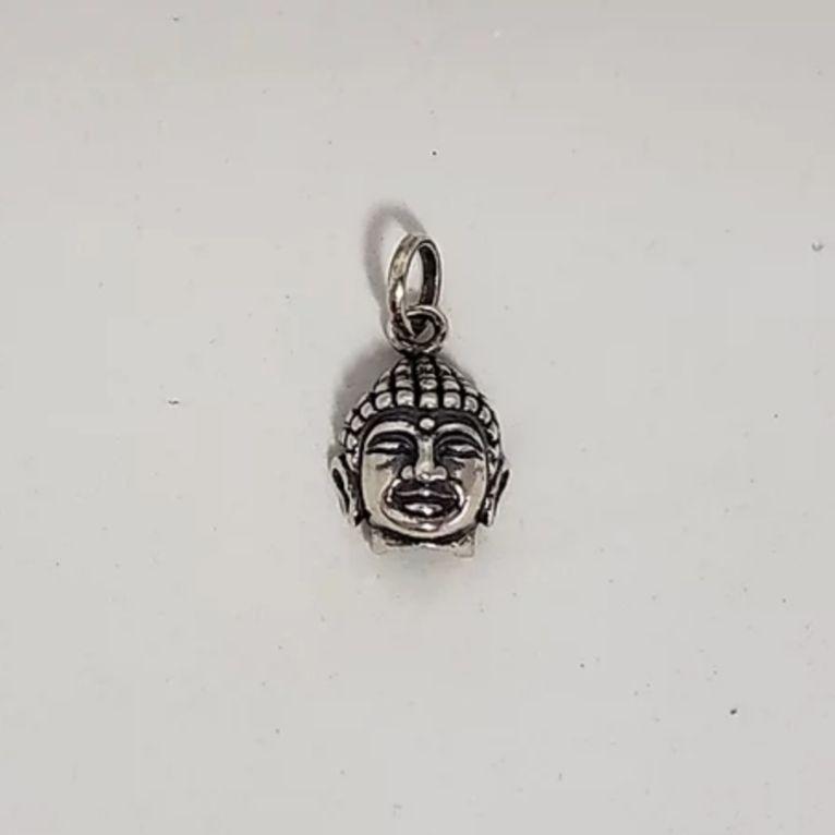 Pingente de Prata Buda Cabeça P