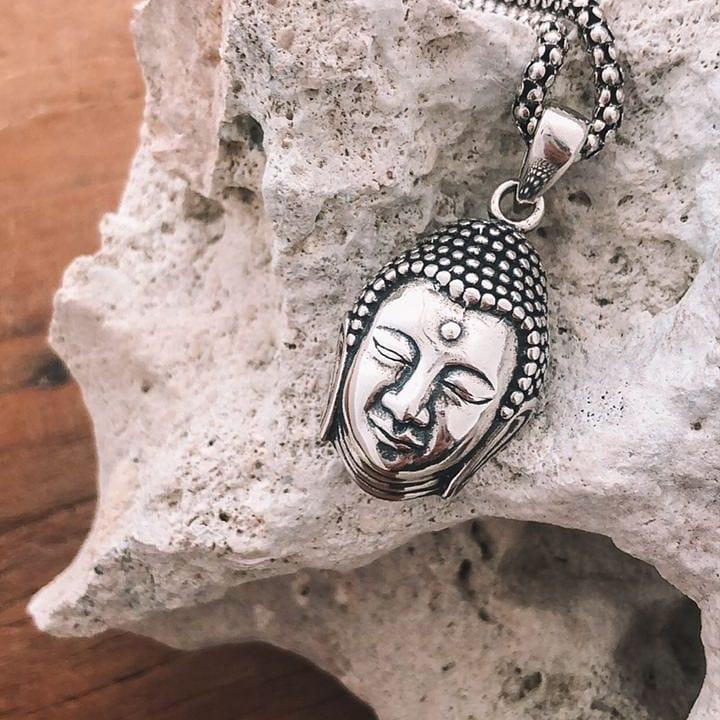 Pingente de Prata Cabeça de Buda
