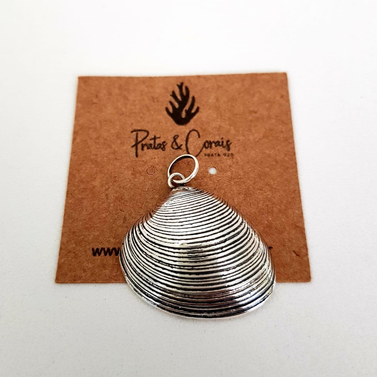 Pingente de Prata Concha