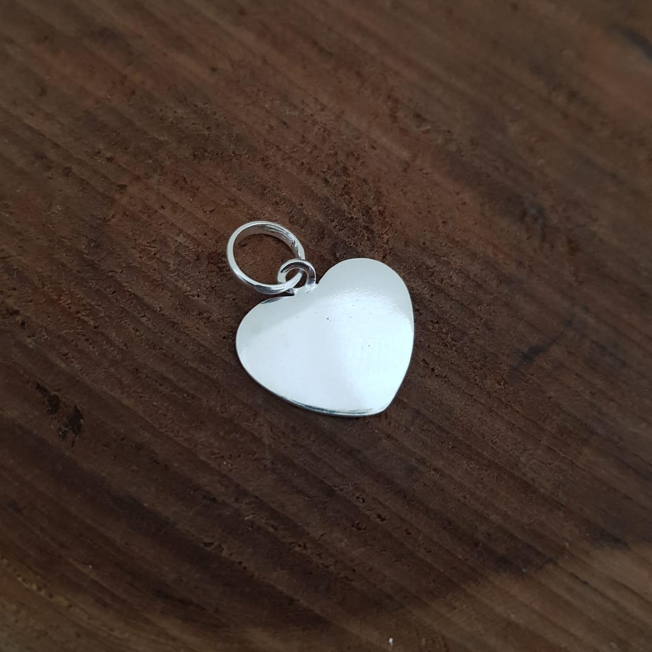 Pingente de Prata Coração Liso