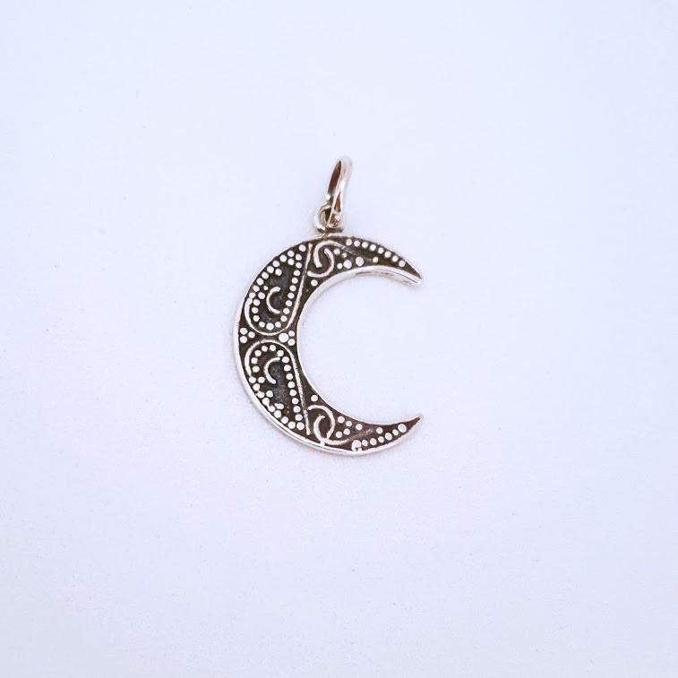Pingente de Prata Gypsy Meia Lua